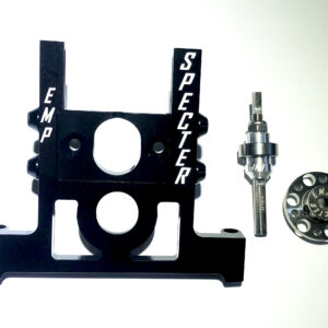 EMWA 6 Wheel Adapter Complete Kit Hard Black Anodized